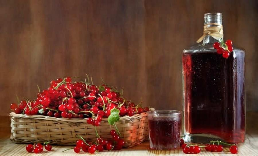 Наливка из ягод красной смородины