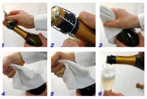Как открыть шампанское по шагам