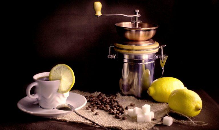 Лимонный кофе с цедрой