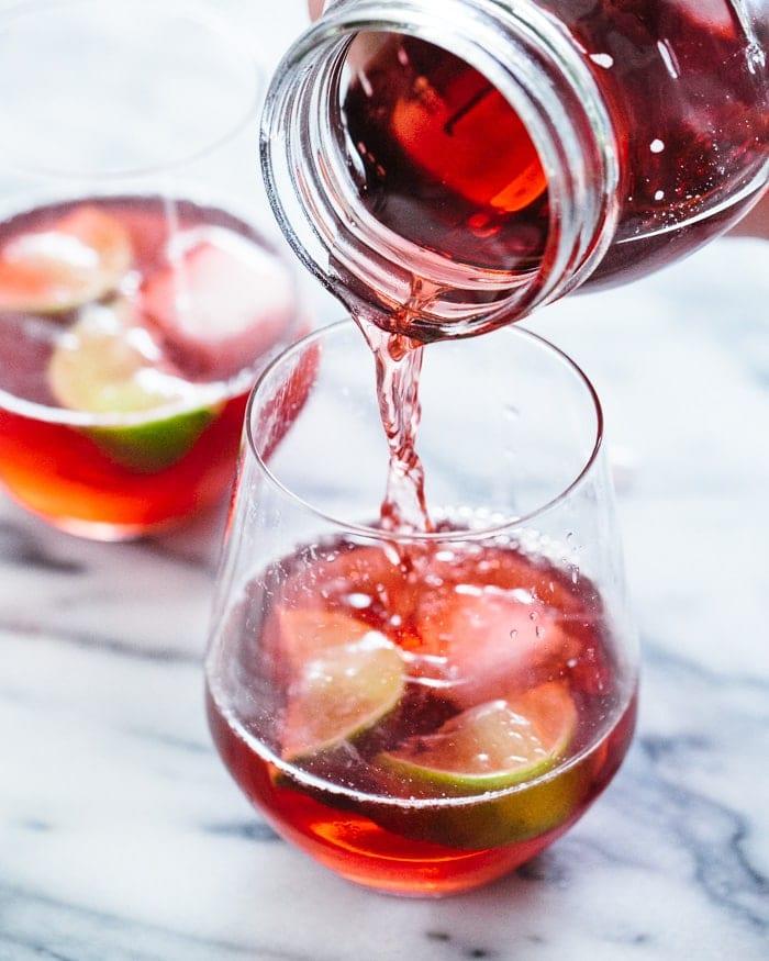 Шпритцер с сидром и гранатом (Spritzer cider and pomegranate)