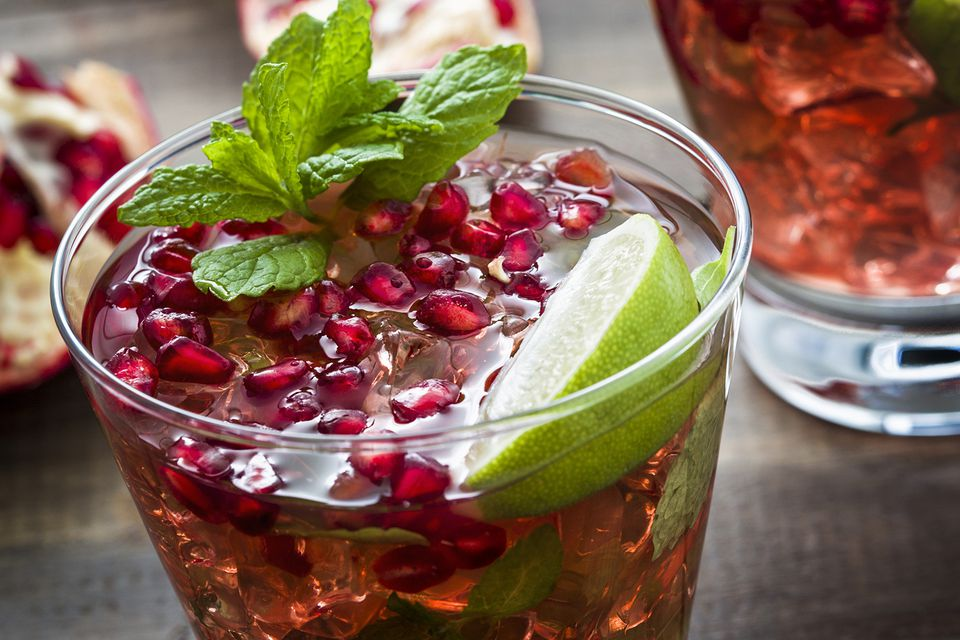 Шпритцер с сидром и гранатом (Spritzer cider and pomegranate)