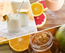 Молочно-цитрусовый коктейль