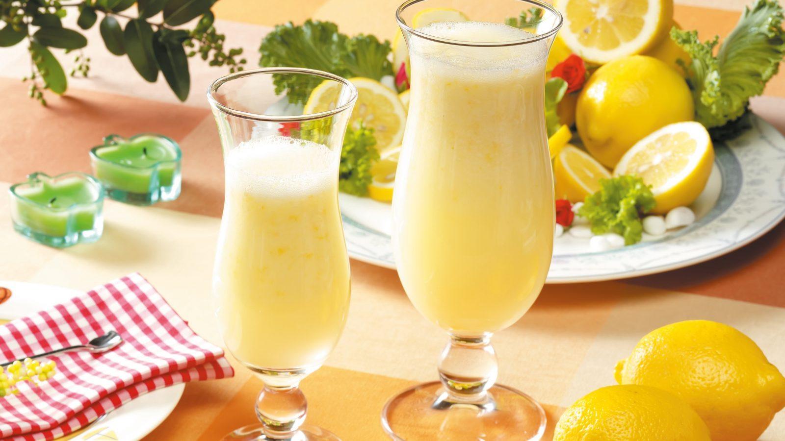 Молочный коктейль с лимоном