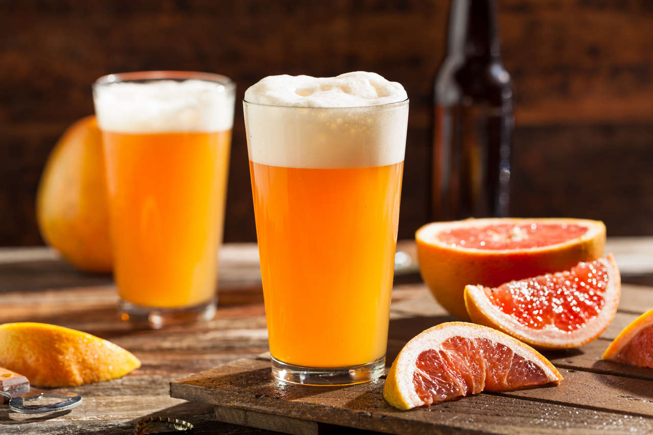 Грейпфрутово-пивной коктейль