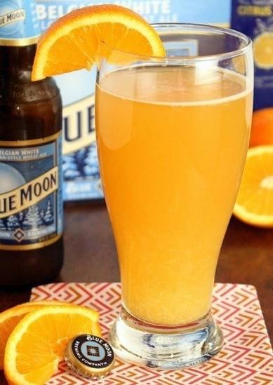 апельсиновый пивной коктейль