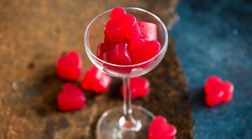 Коктейль-желе Малиновый поцелуй
