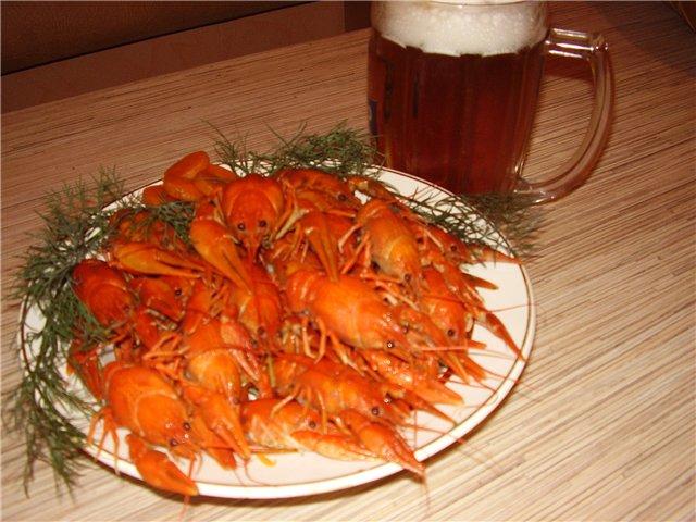 Рецепт приготовления раков к пиву