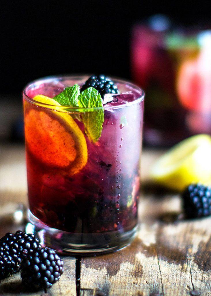 Ежевичный джин-тоник (BlackBerry gin tonic)
