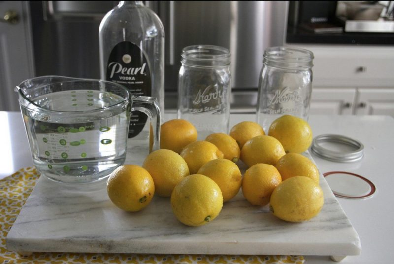 Рецепт домашней лимонной водки
