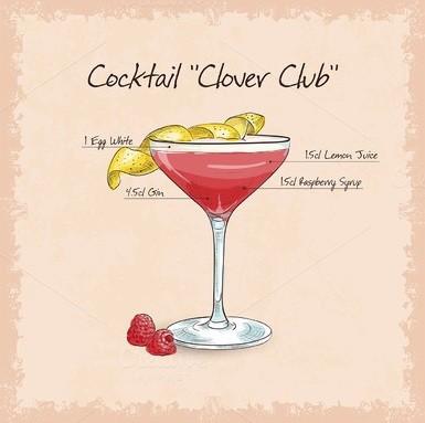 Коктейль Кловер Клаб (Clover Club)