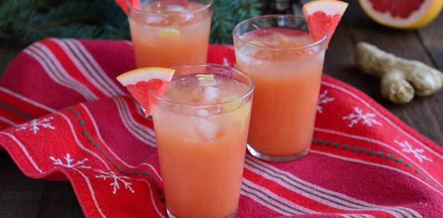 Грейпфрутовый пунш с текилой