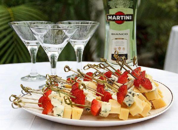 закуска к мартини