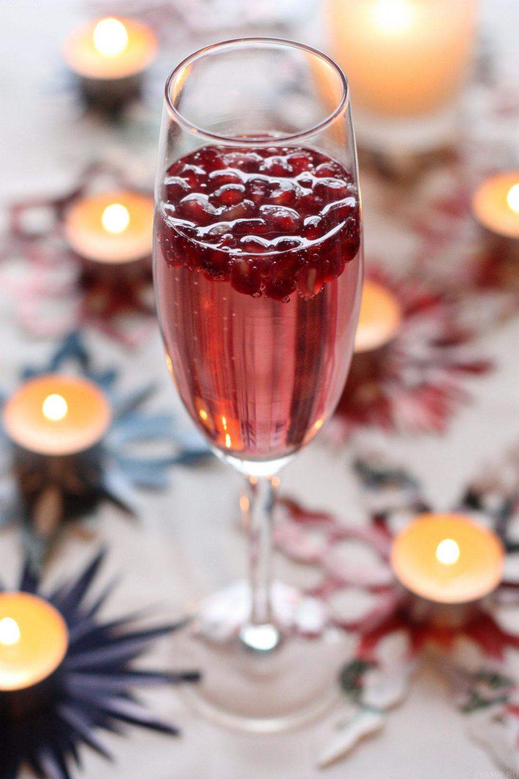 Коктейль Гранатовый Спитцер с шампанским