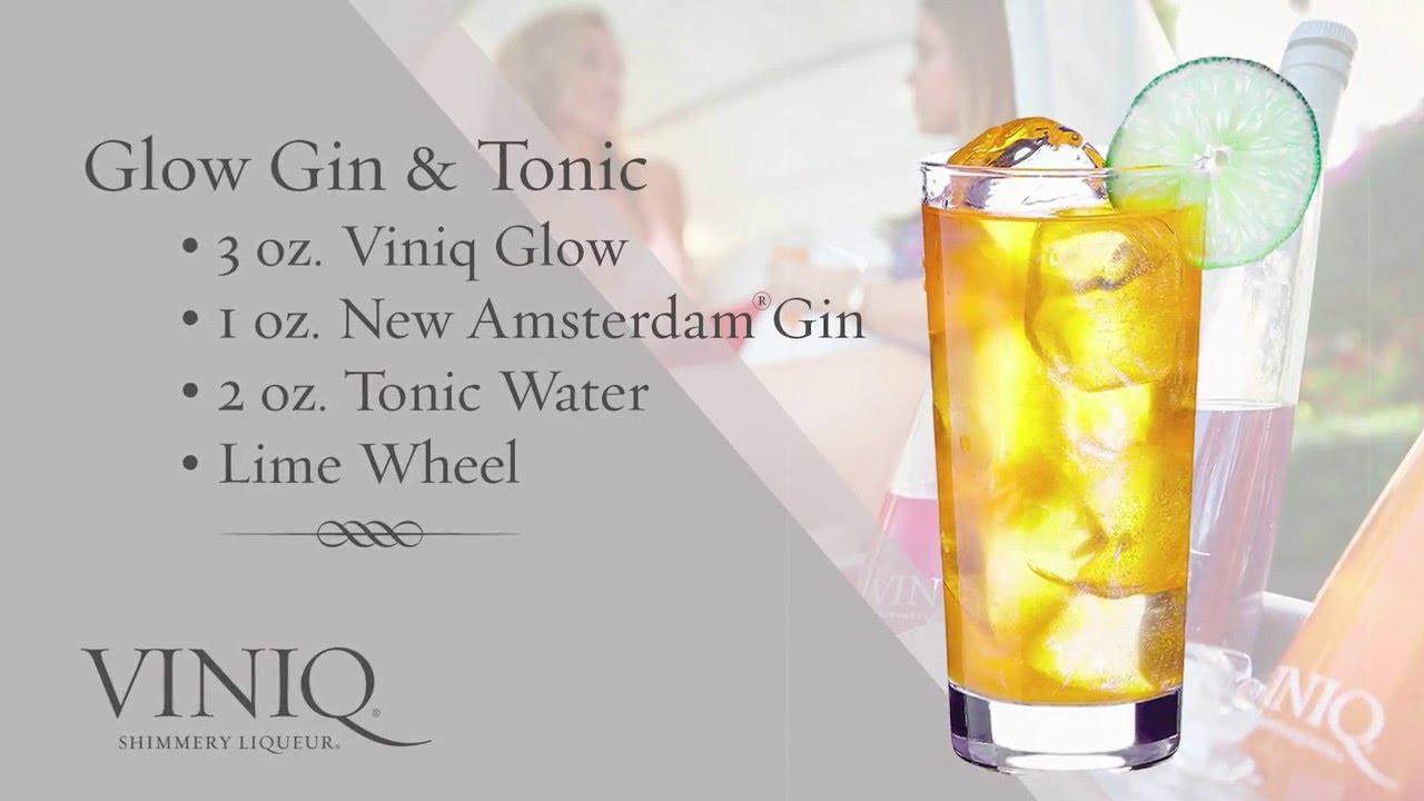 Коктейль Glow Gin Tonic