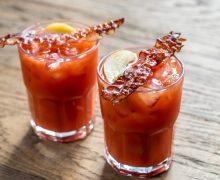 Алкогольные коктейли с беконом