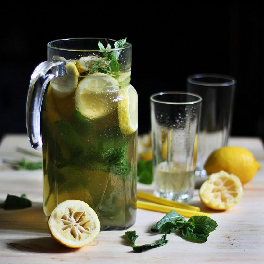 Лимонад из зелёного чая
