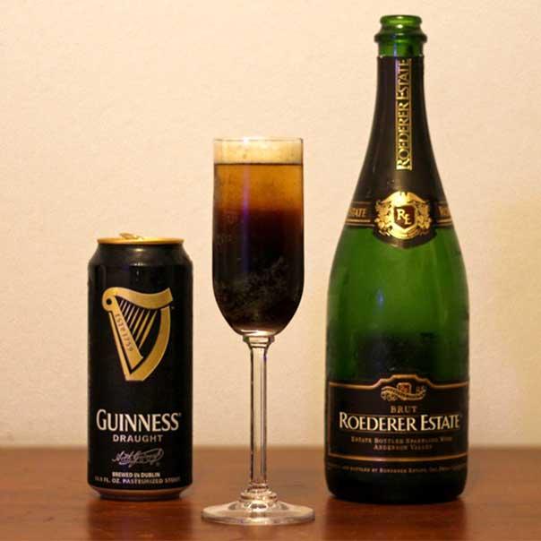 Пивной коктейль Black Velvet