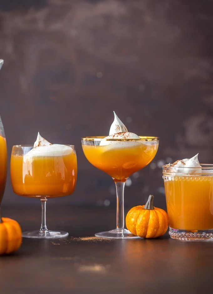 Коктейли с тыквой для Хэллоуина