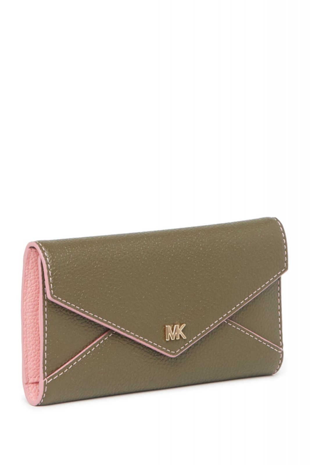 Slim Leather Trifold Envelope Wallet Michael Kors